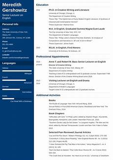 Masters Student Cv Academic Cv Template Examples And 25 Writing Tips