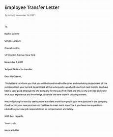 Transfer Letter Template 12 Employee Transfer Letter Templates Pdf Doc Free