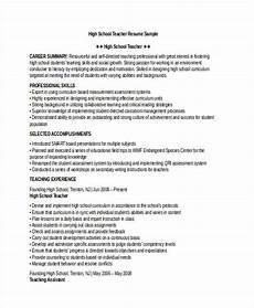 High School Teaching Resume 28 Teacher Resume Templates Download Free Amp Premium