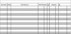 Paper Checkbook Register Printable Check Register