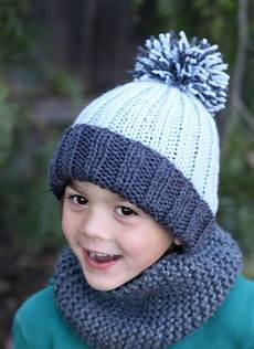 knit for kids beginner easy ribbed pom hat knitted hats knitted hats