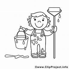 Kinder Malvorlagen Berufe Maler Bild Zum Ausmalen Malvorlage
