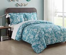 essential home microfiber comforter set turquoise floral