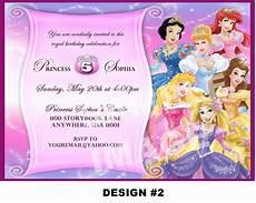 Free Princess Invitations Disney Princess Birthday Invitation Rapunzel Tangled Belle