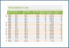 Excel Inventory Free Printable Excel Inventory Template Templateral