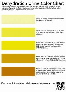 Dehydration Chart Important Read Dehydration Urine Color Chart