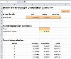 Depreciation Calculator Sum Of Years Depreciation Calculator Double Entry