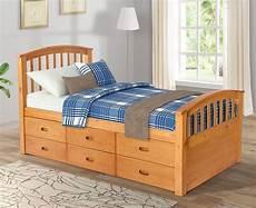 storage bed complete platform solid wood 6