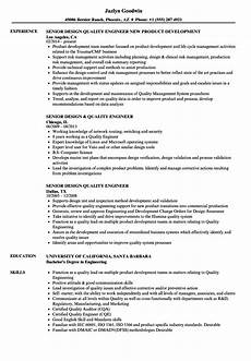 Quality Engineer Sample Resume Senior Design Quality Engineer Resume Samples Velvet Jobs