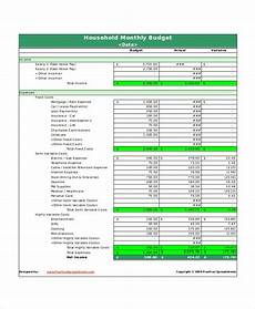 Houshold Budget 30 Excel Monthly Budget Templates Word Excel Pages
