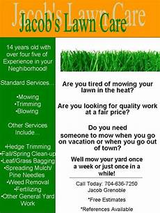 Lawn Maintenance Flyers My Lawn Care Flyer What Do You Think Lawnsite