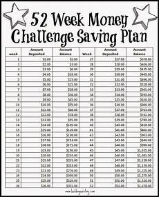 26 Week Savings Plan Chart 52 Week Money Challenge Saving Plan Free Printable 52