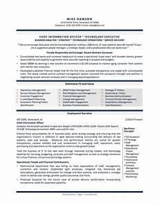 Cio Sample Resume Professional Resume Examples By Gayle Howard Top Margin