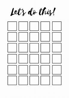 30 Day Calendar 30 Day Habit Tracker Checkbox Printable Etsy In 2020