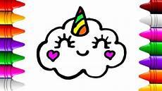 como desenhar uma nuvem de unic 243 rnio kawaii desenhos