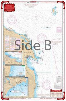 Great Straits Chart North Lake Huron And Straits Of Mackinac Navigation Chart 75