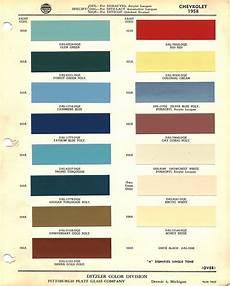 1958 Impala Color Chart 1958 Chevrolet Body Colors Chevrolet Chevrolet Apache