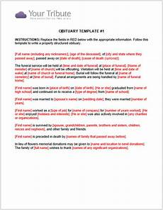Template For Obituary Microsoft Word 21 Free Obituary Templates Samples And Guides