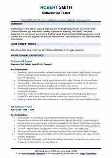 Sample Resume Qa Tester Software Qa Tester Resume Samples Qwikresume