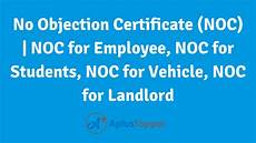 No Noc No Objection Certificate Noc Noc For Employee Noc For