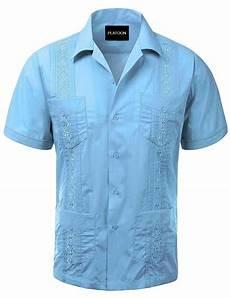 platoon guayabera sleeve mens cuban shirt wedding