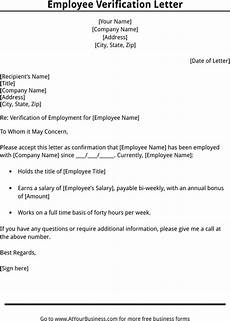 End Employment Letter 11 Employee Verification Letter Examples Pdf Word