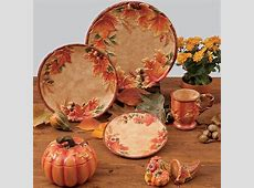 58 Fall Dinnerware Sets, Fall Leaves 16 Piece Dinnerware