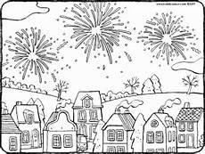 fireworks above the houses kiddicolour