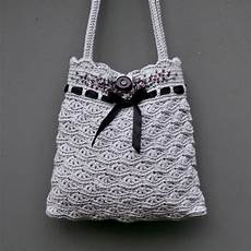 grey crochet purse instant pdf pattern