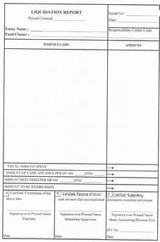 Sample Liquidation Form Mooe Liquidation Report Checklist Teacherph