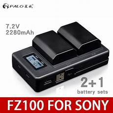 Palo Power Battery Charger Dual by Palo 2pcs 2280mah Np Fz100 Npfz100 Battery Lcd Dual Usb