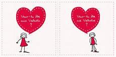 Cartes St Valentin Carte St Valentin Quot Be My Valentin E Quot F 234 Tes Vous M 234 Me