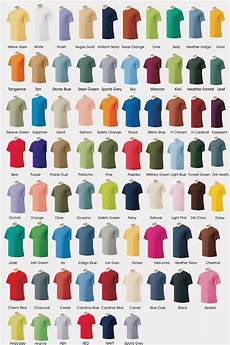 Gildan Shirt Color Chart Gildan T Shirt Color Chart 2014 Gildan Color Chart