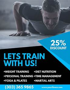 Training Advertisement Template Gym Ad Poster Flyer Social Media Graphic Design Template