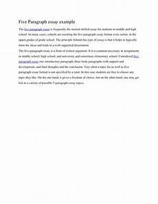 Five Paragraph Essay Example Five Paragraph Essay Example