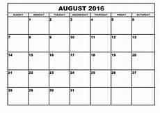 Print A Blank Calendar 2016 Monthly Blank Calendar
