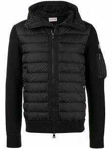 sleeve vest lyst moncler filled jacket with knitted sleeves in