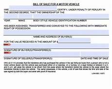 Automotive Bill Of Sale Colorado Free Colorado Boat Trailer Bill Of Sale Form Pdf Word