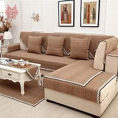 europe style brown solid cotton linen sofa cover lace