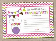 Free Printable Bowling Party Invitations For Kids Printable Girls Bowling Party Invitation By