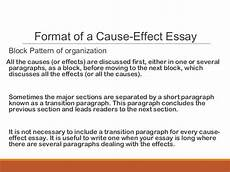Cause And Effect Essay Format Cause Effect Essay Mass Lecture 545824
