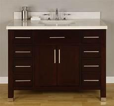42 inch single sink modern cherry bathroom vanity
