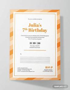 Birthday Invitation Postcards 26 Postcard Birthday Invitation Templates Psd Word