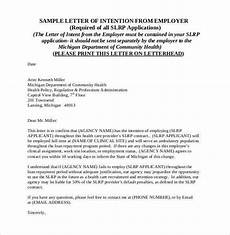 Letter Of Intent Sample Job 31 Letter Of Intent For A Job Templates Pdf Doc Free
