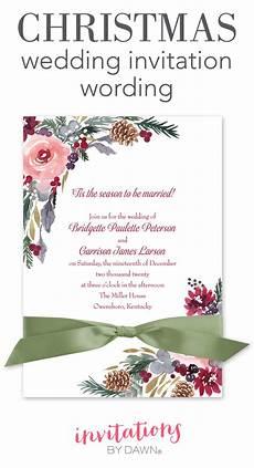 Christmas Carol Invitation Wording Christmas Wedding Invitation Wording Invitations By Dawn