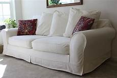 White Sofa Cover 3d Image by White Slipcovered Sofa For Living Room Homesfeed
