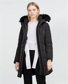 zara coats winter sale pins zara quilted coat with detachable faux fur in black