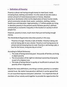 Poverty Essays Assignment On Poverty Alleviation In Bangladesh
