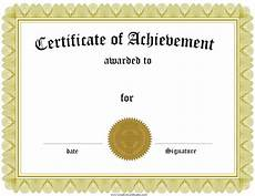 Achievement Certificates Template Free Customizable Certificate Of Achievement
