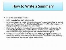How To Write A Job Summary For A Resume How To Write Summary Of An Article Essay Examples Essay